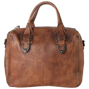 Diophy Leather  Brown Vintage Leather Satchel